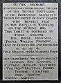 18 June 1815 – Waterloo – St Joseph's Church, Tablet Right, 13.jpg