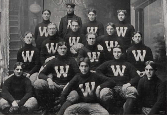 William L. Allen - 1900 W.A.C. football team, Allen at lower right