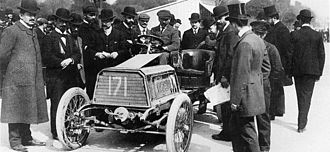 Paris–Madrid race - Image: 1903 Paris Madrid Henri Béconnais (Darracq 40hp) dnf