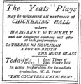 1904 Yeats ChickeringHall BostonGlobe Nov26.png