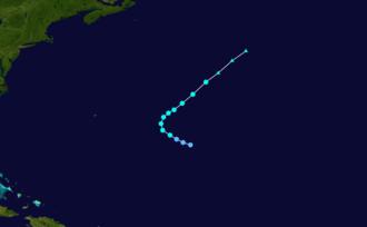 1906 Atlantic hurricane season - Image: 1906 Atlantic tropical storm 3 track