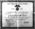 1917 -Constantin Prezan - Brevetul ordinului Legiunii de Onoare, Franţa.png