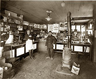 Polish Americans - Polish-American grocery, 1922, Detroit, Michigan.