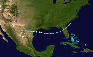 1934 Atlantic hurricane season - Image: 1934 Atlantic hurricane 3 track