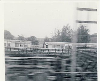 London Underground 1935 Stock - A 1935 Stock driving motor and a 1927 trailer at Ruislip depot in August 1971. Both were scrapped less than 2 months later.