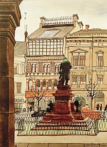 Carl Grossberg: Marschnerdenkmal Hannover, Aquarell 1936 (Quelle: Wikimedia)