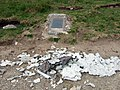 1944 crash site, plaque and remnants - geograph.org.uk - 464012.jpg