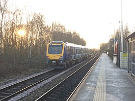 195014 at Bramley station, March 2020.jpg