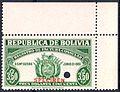 1951 specimen revenue stamp Bolivia.jpg
