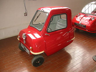 Microcar - A Peel P50, currently holding the record for the smallest automobile to go into production