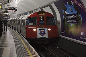 Victoria line - Image: 1967 Tube Stock at Holborn
