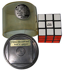 Packaging Of Rubiks Cube Toy The Year 1980 Ideal Corp Made In Hungary
