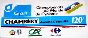 1989 UCI Road World Championships - Ticket of the event