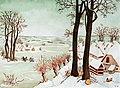 1998 Etude à la manière de Brueghel l'Ancien -1ère aquarelle.JPG