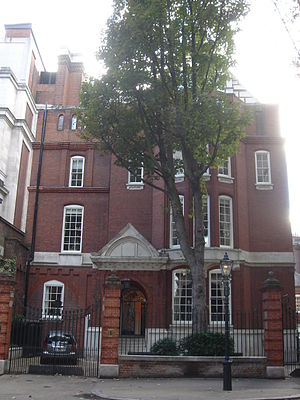 1 Palace Green - 1 Palace Green, east front with porch and bay window