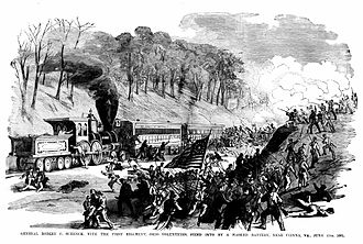 Battle of Vienna, Virginia - 1st Ohio Infantry in action at Vienna, Virginia June 17, 1861