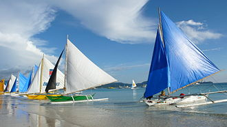 Boracay - Paraws used for paraw sailing