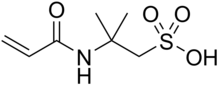Skeletal formula of AMPS