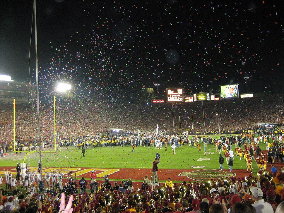2006 Rose Bowl post-game celebration