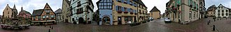 Eguisheim - Panoramic view of Eguisheim's centre
