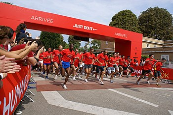 2008 Nike+ Human Race in Paris: The Starting.