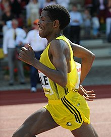 Haile competing at the 2009 FBK Games in Hengelo