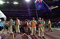 201000 - Opening Ceremony swimmers Paul Bird Brendan Burkett parades 2 - 3b - 2000 Sydney opening ceremony photo.jpg