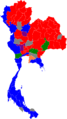 2011 Thai general election results per region.png