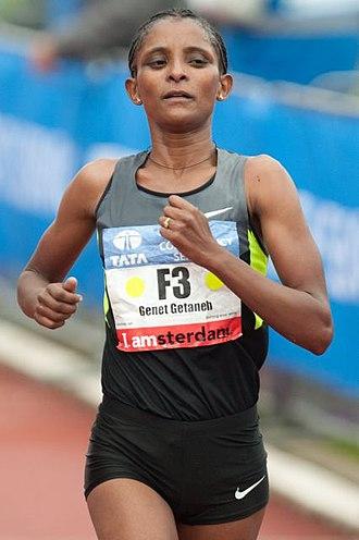 Genet Getaneh - Genet at the 2012 Amsterdam Marathon