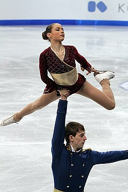 2012 World Junior FS Julia Lavrentieva Yuri Rudik.jpg