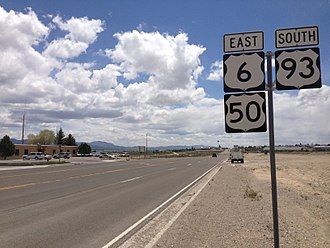 U.S. Route 6 in Nevada - U.S. Route 6, 50 and 93 concurrency in Ely