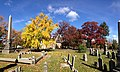2014-11-02 12 17 55 Ginkgo and White Oaks during autumn at the Ewing Presbyterian Church Cemetery in Ewing, New Jersey.JPG