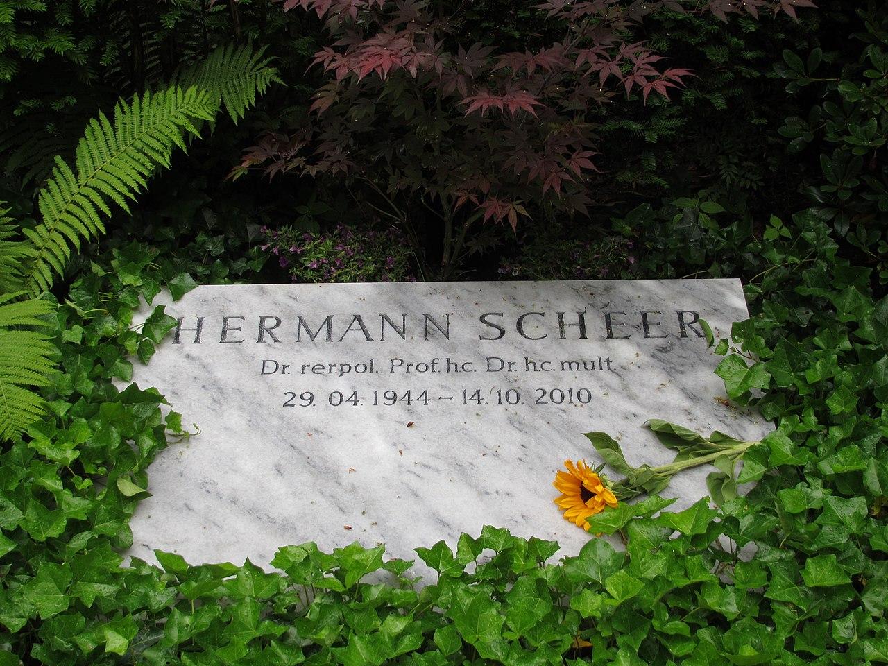 20140614 xl 4343 Hermann Scheer Grabstätte Feld 16-A-20-21 Trakehner Allee 1 Berlin-Westend Friedhof Heerstraße--Waldfriedhof Heerstraße.JPG
