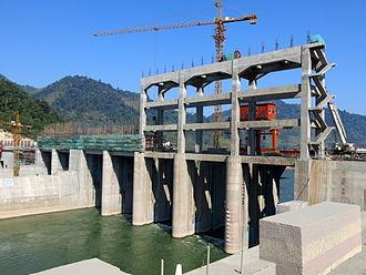 Nam Ou - Dam Construckion at Nam Ou River