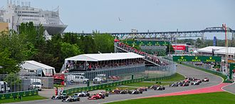 2015 Canadian Grand Prix - The start of the race