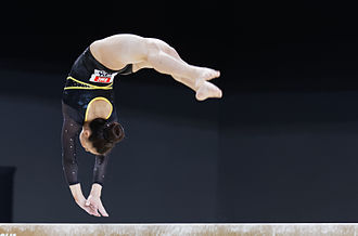 Claudia Fragapane - Fragapane on balance beam at the 2015 European Championships