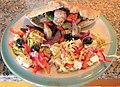 2017-04-17 Souvlaki, Cypriot salad and Pitta Bread, Trimingham.JPG