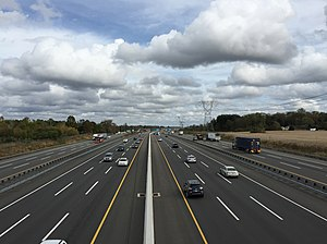 Hamilton Township, Mercer County, New Jersey - The New Jersey Turnpike (I-95) is the largest and busiest highway in Hamilton, though it has no interchanges within the township