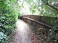 2018-09-12 Iron footbridge over the dissused Norfolk and Suffolk Joint Railway, Knapton.JPG