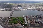 2018 LCY, aerial view of Thames Barrier 2.jpg
