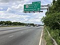 2019-05-27 14 38 51 View north along the outer loop of the Capital Beltway (Interstate 95 and Interstate 495) at Exit 11B (Maryland State Route 4 North-West Pennsylvania Avenue, Washington) along the edge of Forestville and Westphalia in Maryland.jpg
