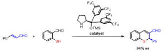 Robinson annulation - Organocatalytic tandem Michael-aldol reaction for the one-pot synthesis of chiral thiochromenes