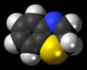 Benzothiazine - Image: 2H 1,4 benzothiazine 3D spacefill