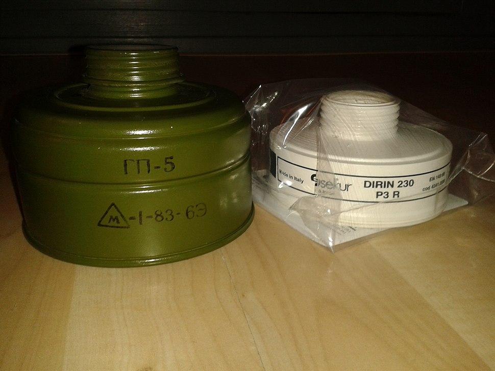 2 Gasmaskenfilter