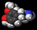 3-Methoxytyramine 3D spacefill.png