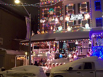 Hampden, Baltimore - Christmas decorations on 34th Street block in Hampden