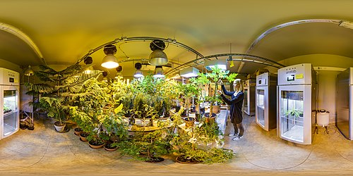 360° view on the research greenhouse of the Estonian University of Life Sciences