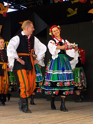 Mazovia - Folk costumes from Łowicz subregion