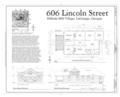 606 Lincoln Street (House), 606 Lincoln Street, La Grange, Troup County, GA HAER GA,143-LAGR,35- (sheet 1 of 1).png