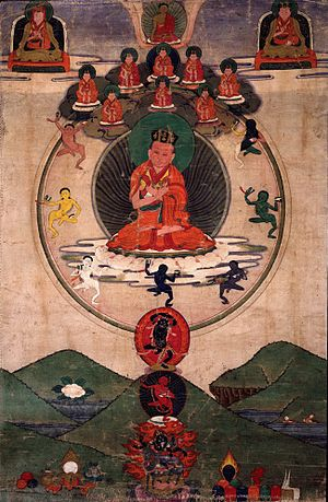 Mikyö Dorje, 8th Karmapa Lama - Mikyö Dorje, 8th Karmapa, 19th-century painting, Rubin Museum of Art